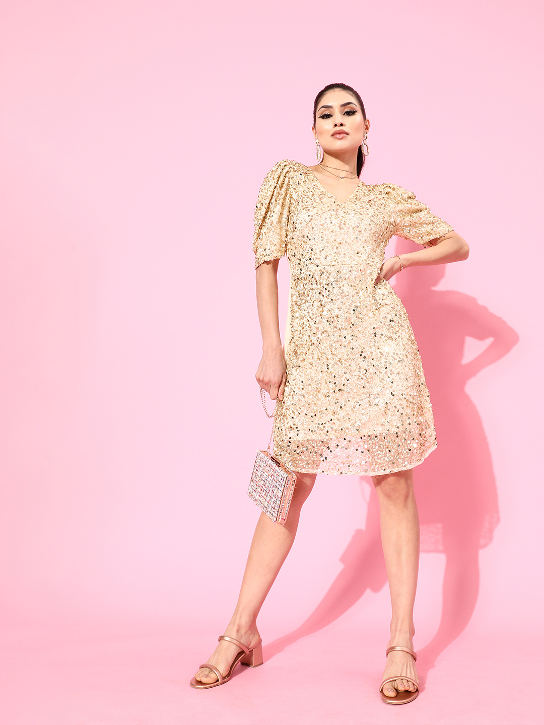 Fitted Embellished Tulle Dress