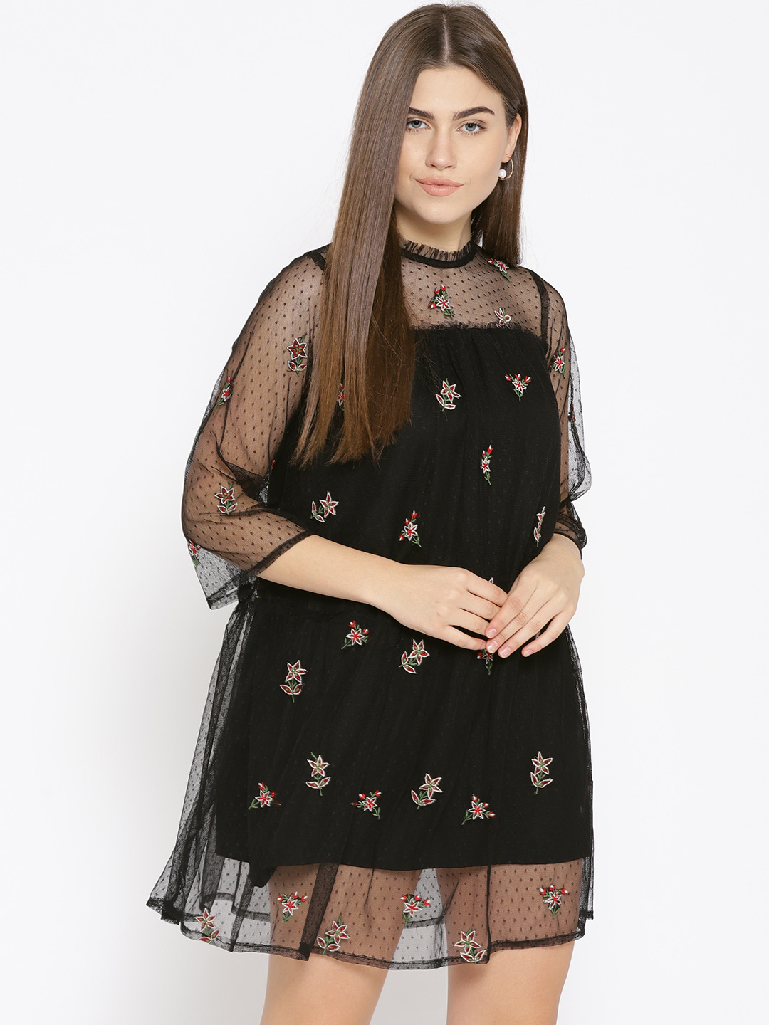 Mesh Embroidered Dress