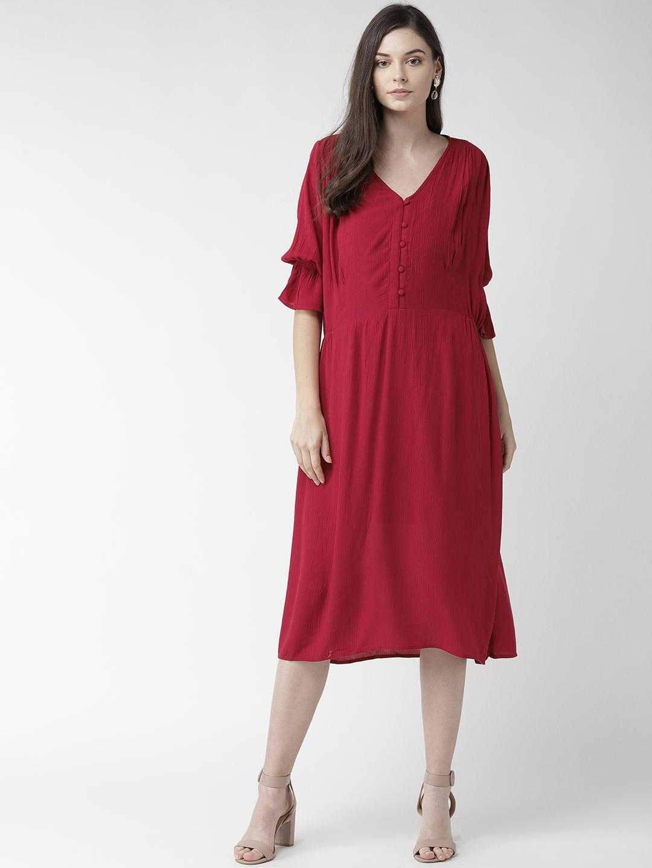 Rayon Crepe Solid Dress