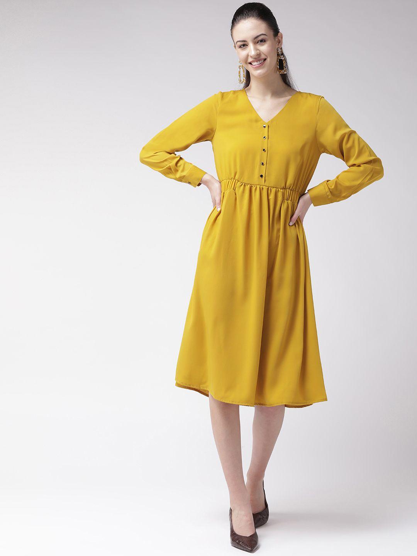 Yellow Mustard A-line Dress