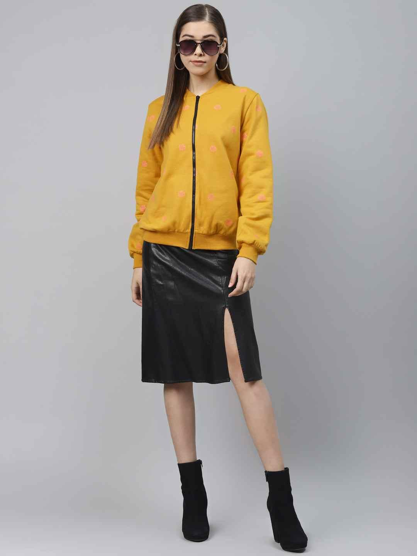 Front open Printed Fleece Jacket
