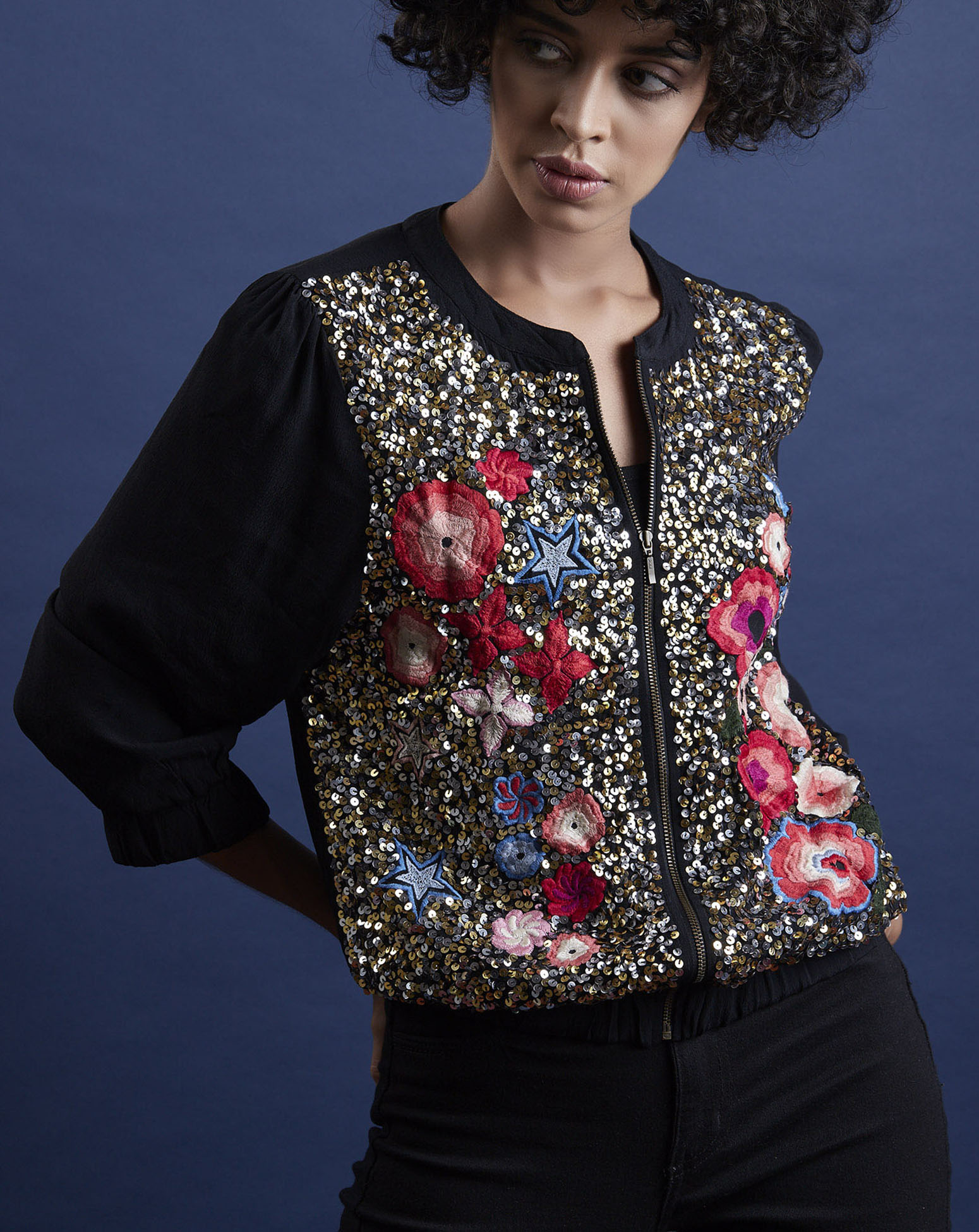 Embroidered & Sequined Jacket