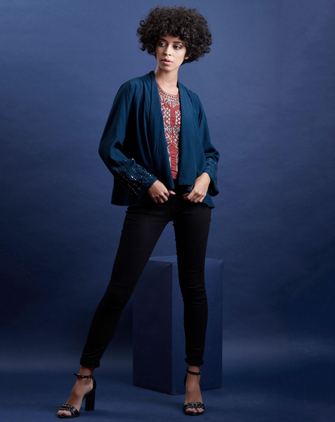 Embellished Long Sleeve Blazer
