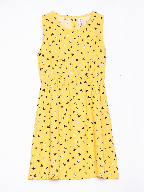 Sleevless Printed A-line Dress