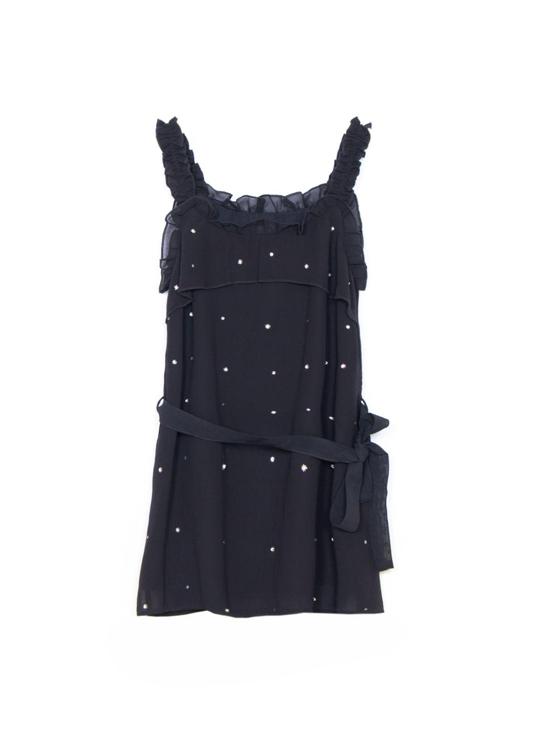 Poly GGT Embellished Dress with Frill Detail