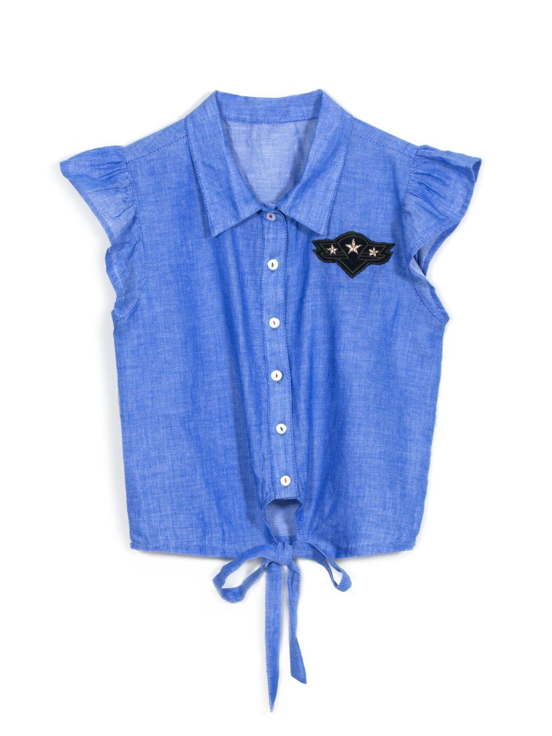 Blue Knotted Shirt