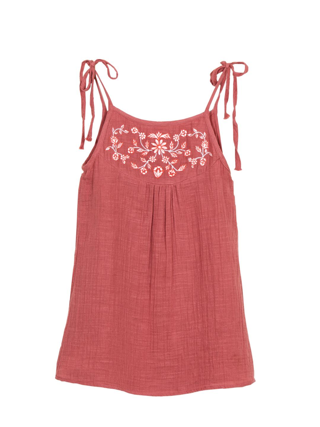 Embroidered Strappy Top