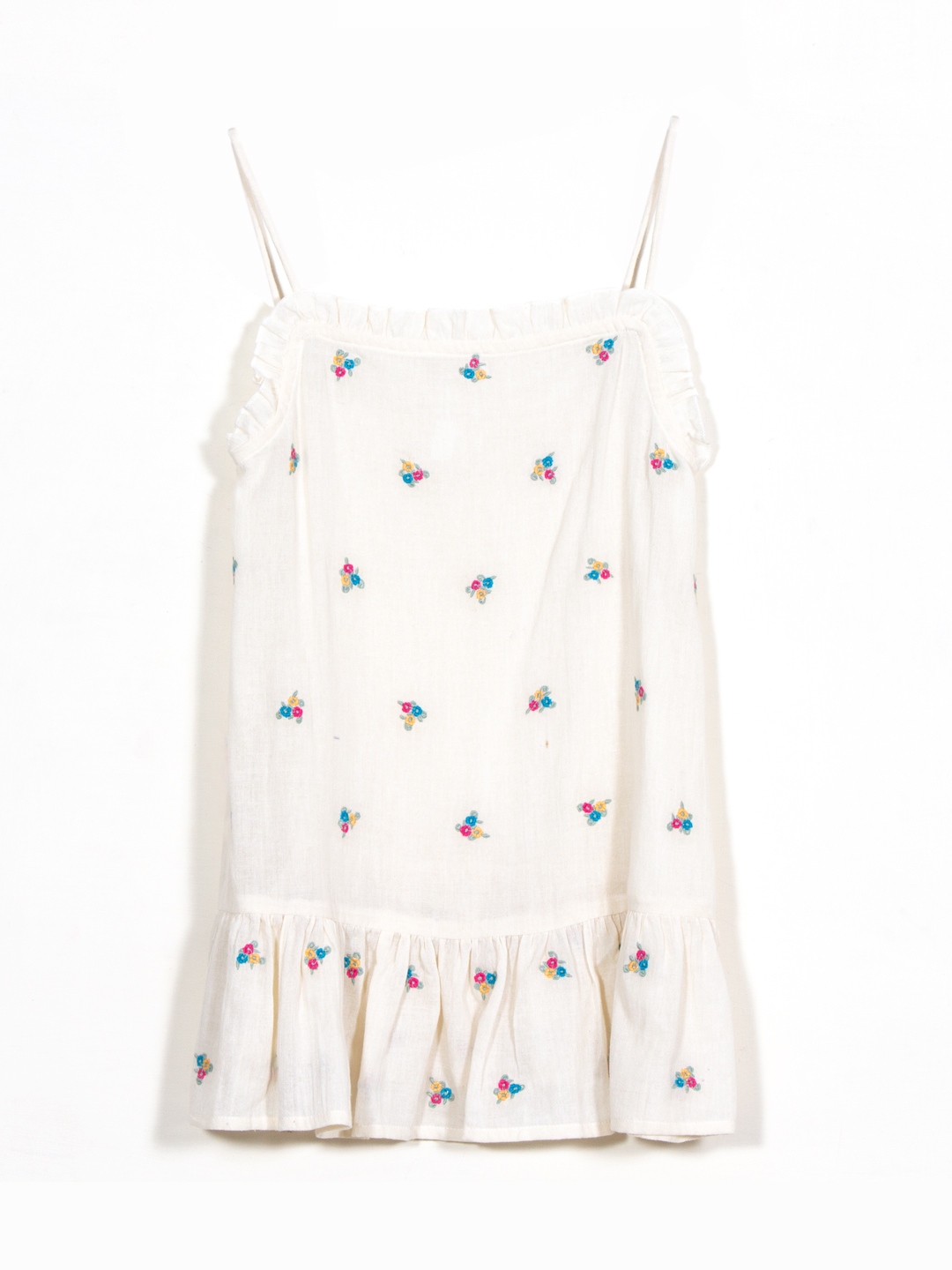 Floral Embroidered Strappy Dress