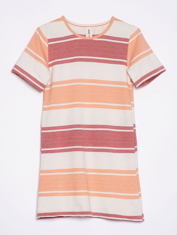 Multi Colr Striped Jersey Shift Dress