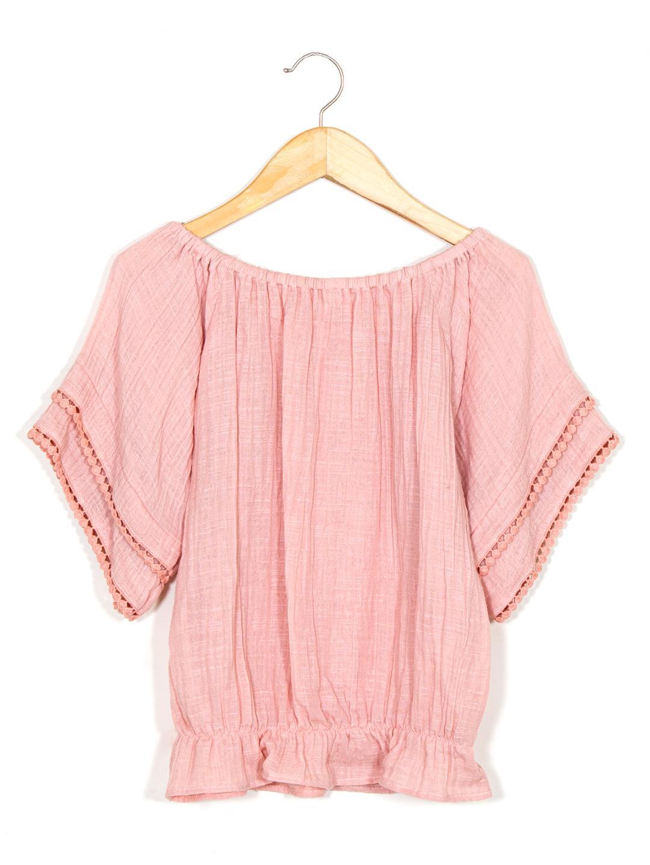Pink Off-Shoulder Top