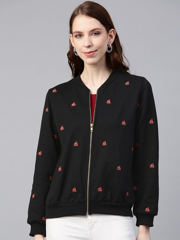 Embroidered Fleece bomber jacket